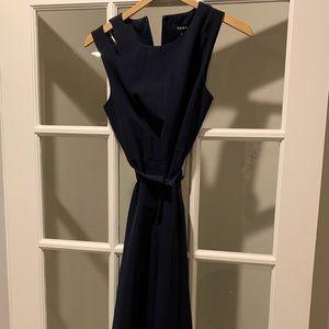 DKNY Navy blue sleeveless dress midi length
